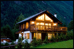 The chalet, night view
