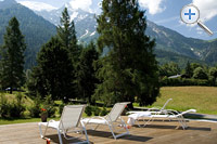 Chalet views of the Chamonix valley