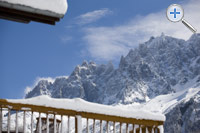 Balcony views to the Aiguille du Midi